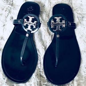 Tory Burch navy jelly Miller sandal